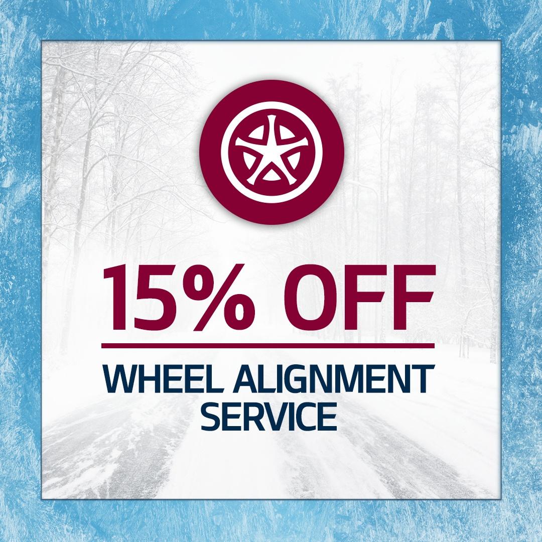 15% Wheel Alignment Service